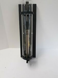 Feiss WB1560AF/BS Ethan Glass Wall Sconce Candle Lighting, Iron, 1-Light