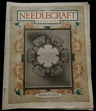 Needlecraft Magazine  March 1923 FASHION - NEEDLEWORK - CREAM OF WHEAT AD