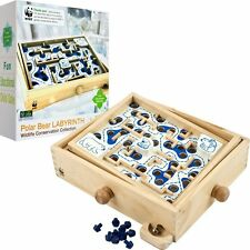 NEW IN BOX World Wildlife Fund WWF Wooden Polar Bear Labyrinth - Family Game