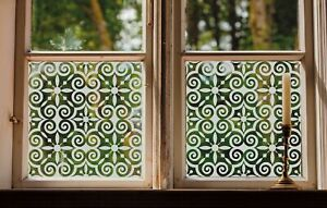 Etched Glass Window Film FROSTED EFFECT floral decorative ETCHING window privacy