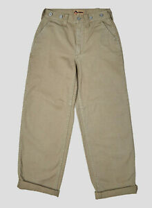 Nigel Cabourn Military Pants Trousers in Washed Army Green Size 30 W 30