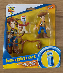 DISNEY PIXAR TOY STORY 4 IMAGINEXT: FORKY & WOODY NEW OFFICIAL MERCHANDISE