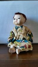Asian Bisque Jointed Doll. Traditional Oriental Costume.