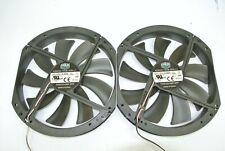 Qty 2 Cooler Master 230mm x 200mm 3-Pin Case Fans A23030-10CB-3DN-L1