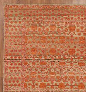 Orange 5'7''x7'10'' ft Persian Design Handmade Oxidize Vintage Finish Area Rugs