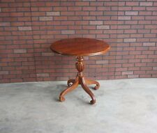 End Table / Round Pedestal End Table / Regents Park End Table By Ethan Allen
