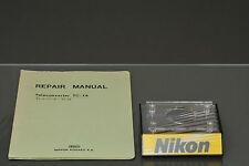nikon repair manual original for tc-14, mint-/mint