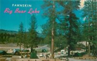 Big Bear Lake California Fawnskin Camp Grounds 1950s Postcard Western 4152