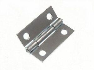 """NEW BUTT HINGE ( DOOR CUPBOARD ) ZINC PLATED STEEL 38MM 1 1/2 """" + SCREWS (6 PAIR"""