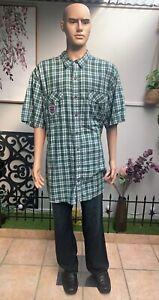 Nautica Jeans Co Men's Button Up Collar Check Shirt. Size 3XL. 100% Cotton