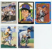 NEW YORK METS Autographed Signed Baseball Card Lot - 5 Autos - WALLY BACKMAN