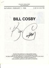 P228 BILL COSBY signed program '98 when he appeared at the State Theatre