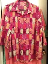 ladies top women's size 1X, Button down style, short sleeves, Excellent quality!