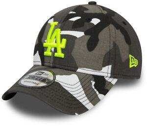 LA Dodgers New Era 940 Kids Grey/White Camo Essential Baseball Cap (Age 2 - 10)