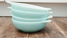 Pyrex Famly flair turquoise sea isle set of 4 cereal/soup bowls