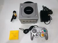 Nintendo Gamecube (SILVER DOL-001) System Console, OEM Controller, Tested, Clean