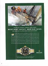 Historische Reklame  vintage advert -  ROLEX -  Submariner - Oyster - Perpetual