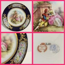 Sevres Cabinet Plate -Chateau des Tuileries - 1837 - Flower Cartouche - New Pric