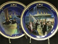 Bradford Exchange TITANIC QUEEN OF THE OCEAN 2 Collector Plates GREAT CONDITION