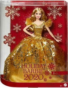 Barbie Doll Signature 2020 Gold Dress Holiday RARE Official Stock Gift idea NEW
