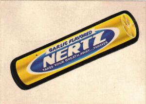 1973 Topps Wacky Packages Series 2 White Back Nertz Garlic Flavored Original