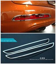 For Audi Q3 2012 - 2015 ABS Chrome Rear Tail Fog Lamp Fog Light Cover Trim 2pcs