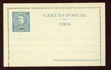 Timor - 1905 - Postal Stationery - 10 Avos Letter Card - H&G A4