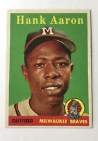 1958 Topps #30 Hank Aaron Baseball Card YL Rare Yellow Letter Variation A BEAUTY