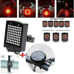 UK Rechargeable Wireless Bike Bicycle LED Tail Lamp Brake Turn Signal Light NEW