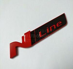 'N Ligne' Badge Rouge & Brillant Arrière Métal Emblème pour Hyundai i30 Kona