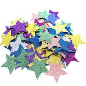 Colorful Wedding Confetti Paper Hearts Star Home Decor R