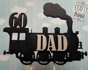 Birthday Steam train wooden Cake topper any colour/Age (not card) personalised