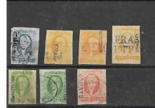 Mexico 1856 First Issues,Scott 1- 4 Used Group With Varieties.