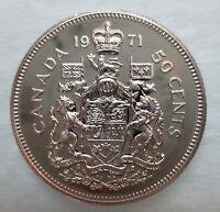 1971 CANADA 50 CENTS PROOF-LIKE HALF DOLLAR COIN