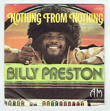 """Billy PRESTON Vinyl 45 tours 7"""" SP NOTHING FROM NOTHING - MY SOUL WITNESS 625022"""