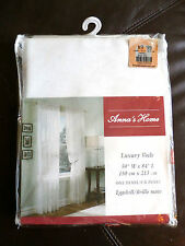 "59""X84"" 1 Panel Rod-Pocket VOILE Sheer EGGSHELL (Retail> $18) ADD FOR FULLNESS!"