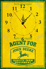 JOHN DEERE WALL CLOCK. GREAT GIFT FOR FARMER, WORKSHOP, SHED ETC