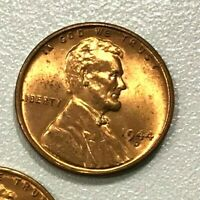 1944 D NICE Red   Uncirculated  Lincoln Wheat Cent Pennys