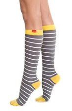 VIM & VIGR Nautical Stripe Graduated Compression Trouser Socks Size Small