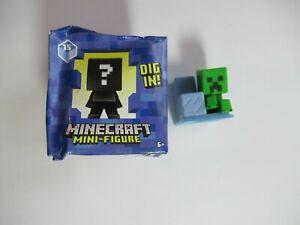Minecraft Aquatic Series 15 Creeper on Iceberg Build a Mini Figure OPEN BOX