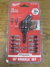Milwaukee 48-32-2301 Shockwave 30 Degree Knuckle Pivot Bit Adapter Set Brand New