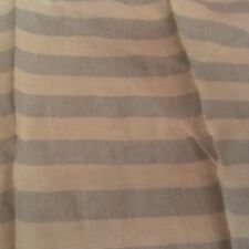 Rachel Ashwell Shabby Chic Cabana Stripe Oyster Fabric Sample Blue 1 Yd Cottage