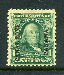 US Possessions Canal Zone Scott 4 1c Franklin 1904 Issue MOG B730 2