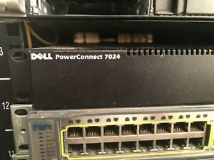 Dell PowerConnect 7024 24-Port Gigabit Switch w/ 10GE Stacking Mod + ears inc