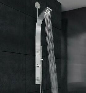 NIB Vigo VG08011 VIGO Retrofit Shower Panel w/Rain Shower Head Stainless Steel