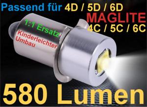MAGLITE CREE LED Upgrade (580LM) Passend für 4 - 6 D oder C kostenloser Versand