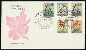 Mayfairstamps Rwanda FDC 1963 Flowers Combo First Day Cover wwi_90371