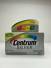 New Centrum Silver Adult 50+ Multivitamin/Multimineral Supplement 125 Ct 04/2021