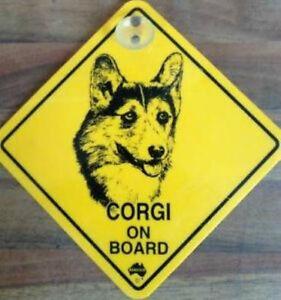 2. Wahl 12cm Roadsign Schild mit Saugnapf CORGI Warnschild Hund