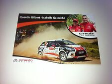 CP POSTCARD CARTOLINA CITROEN DS3 R3 GILBERT RALLY WRC PORTUGAL 2013